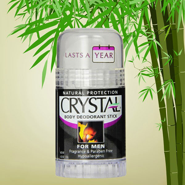 Crystal Body Deodorant Stick for Men, Unscented